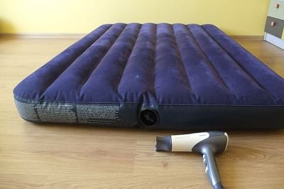 Inflate Air Mattress using hair dryers