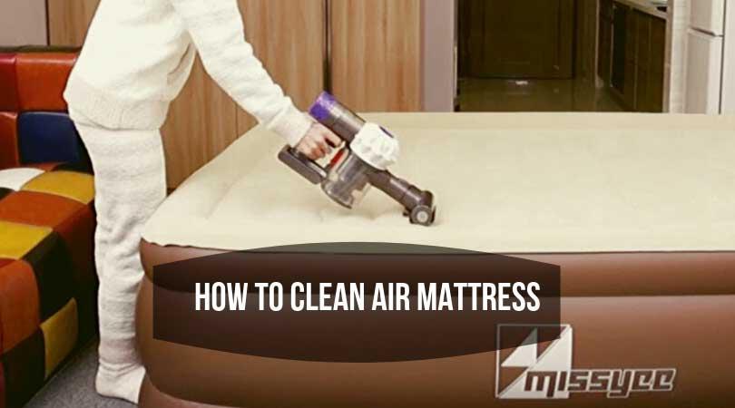 how to clean air mattress