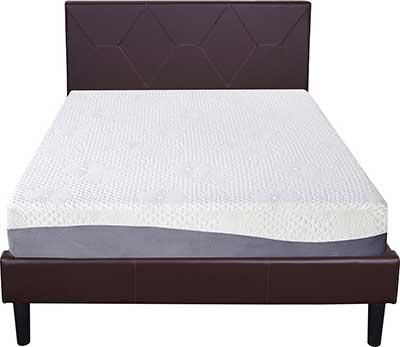 Olee Sleep 10 Inch Grey Mattress
