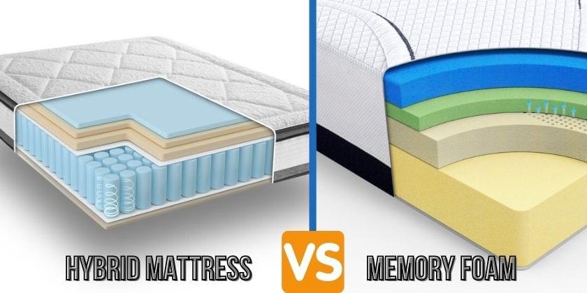 Hybrid Mattress vs Memory Foam